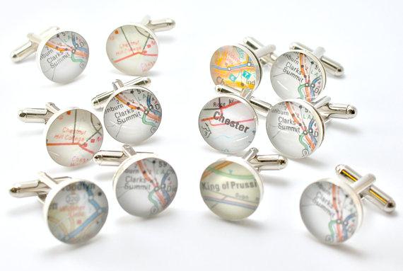 Свадьба - Groomsmen Gift, Gifts for Groomsmen, Map Cufflink, Custom Map Cuff Links, World Map Cufflinks, Custom Cufflinks, Map Cufflinks