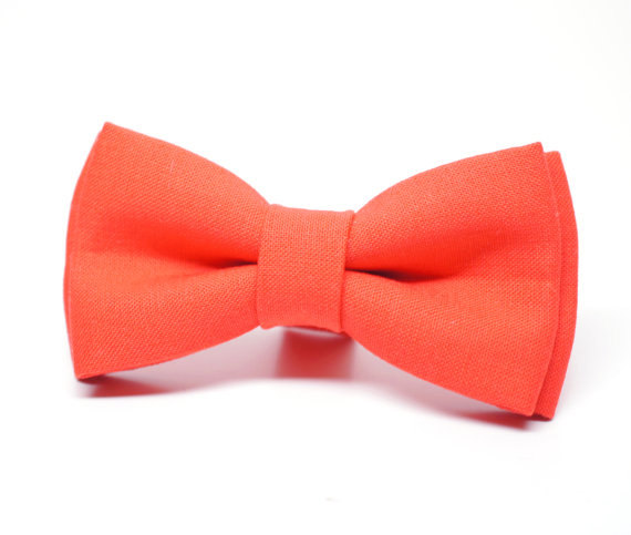 Mariage - Dark Coral Bow Tie for Boys, Toddlers, Baby - pre tied bowtie
