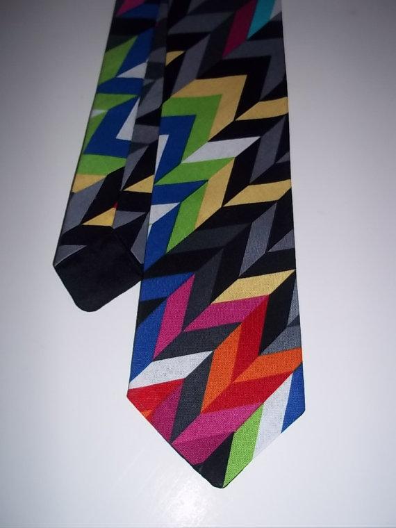 Свадьба - Geometric Necktie-Colorful Tie-Boy's Pre-Tied Tie-Boy's Necktie-Colorful-Boy'sNeck Tie