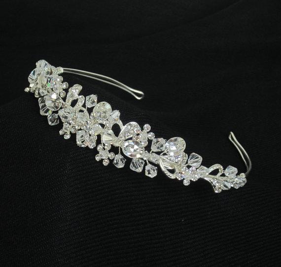 Wedding - Crystal and Rhinestones Bridal Tiara, TIFFANIE Bridal Tiara, Wedding hair accessories, Bridal Headpieces, Rhinestone hair comb