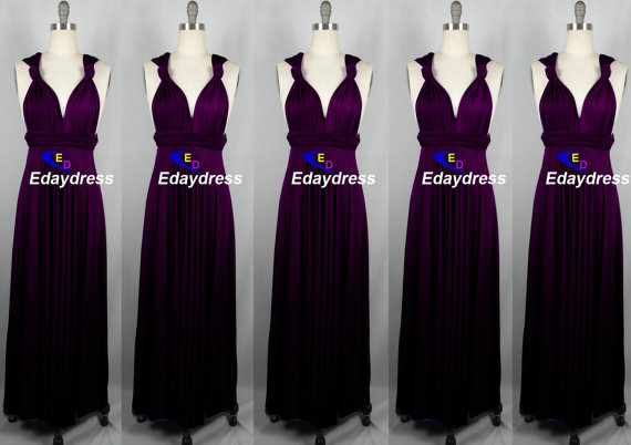 Eggplant purple maxi dress
