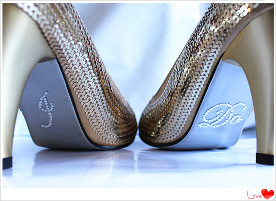 Mariage - Crystal I Do Wedding Shoes Stickers / Shoes Stickers / Wedding Shoe Stickers