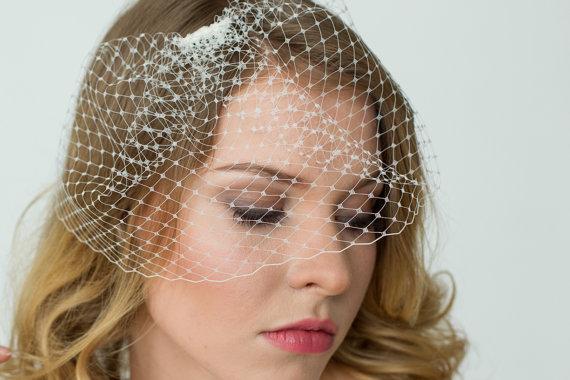 Wedding Mini Birdcage Wedge Veil Small Netting Blusher Bird Cage Bridal Hair Accessories