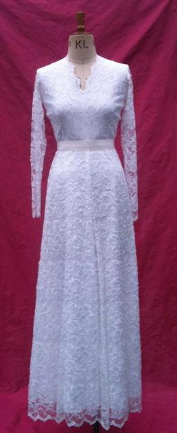 Princess Kate Wedding Dress.Baylis Knight Pure White Lace Princess Kate Middleton Long Sleeve