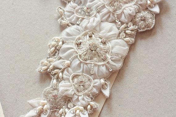 زفاف - Floral wedding sash - Sunflower (Made to Order)