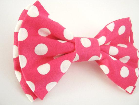 Свадьба - Dog Bow Tie   Polka Dot Bow dog collar bow tie wedding dog bow tie