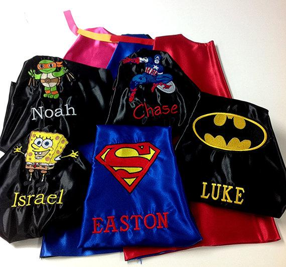 Superhero Cape Kid S Superman Custom Embroidered Personalized