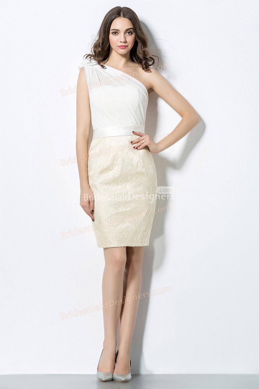 Ivory colored party bridesmaid dresses 2257439 weddbook for Ivory color wedding dress