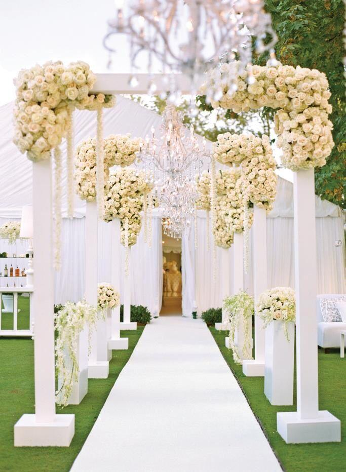 OUTDOOR WEDDING CEREMONY AISLE RECEPTION DECOR 2257512 Weddbook
