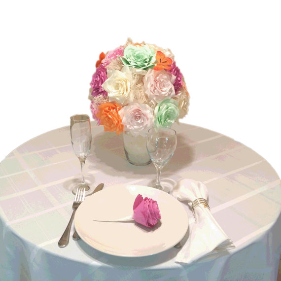 Bridal Shower Centerpiece Vase With Tulle