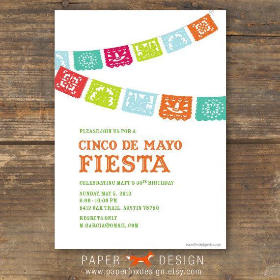 Mariage - Cinco De Mayo Fiesta Party Invitation - Printable