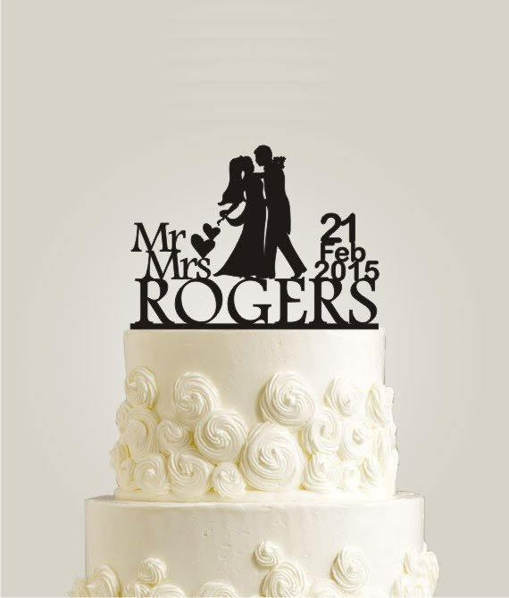 Custom Wedding Cake Topper Mr And Mrs Wedding Cake Topper Personalized With Your Last Name And