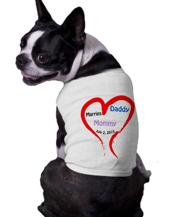 Mariage - Mommy and Daddy are getting married wedding  Announcement Ribbed Dog Shirt with wedding date