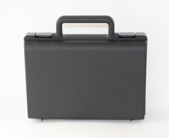 Wedding - Plain Black Wedding Ring Security Briefcase