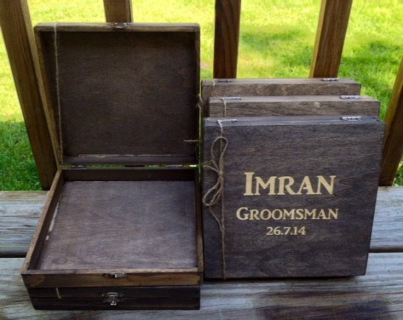Set Of 7 Wooden Cigar Boxes
