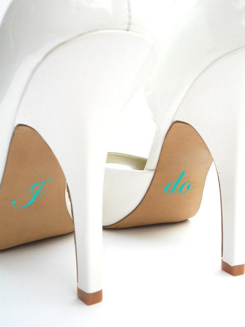 Свадьба - Wedding Shoe Decal - I Do Shoe Decal - Bridal Shoe Accessories
