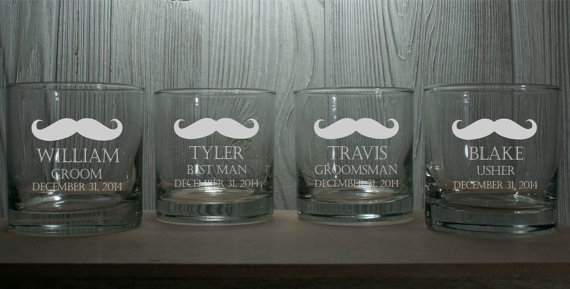 Mariage - Whiskey Glasses - Personalized 10.25 oz Rocks Glasses - Perfect Birthdays, Bachelor Parties, Groomsmen Glasses, Gifts for the Man Cave