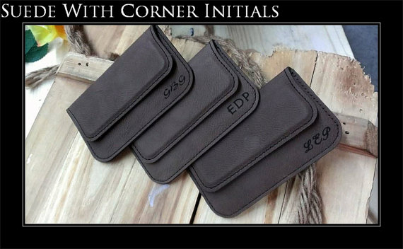 Свадьба - Personalized Business Card Holder, Leather Business Card Holder, Groomsmen Gift, Personalized Business Card Case,