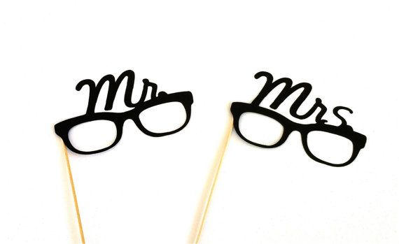 SALE Mr And Mrs Glasses Set Photo Booth Props Wedding Photobooth Party Decorations Supplies