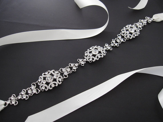 Mariage - Wedding Bridal Accessories Belts & Sashes,wedding sash,bridal sash,bridal belt sash,wedding belts,rhinestone bridal belt,wedding sash belt