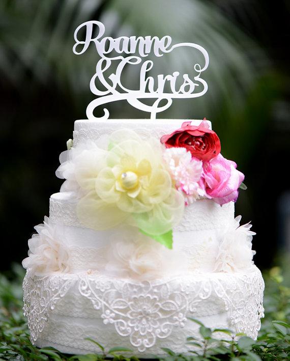 زفاف - Wedding Cake Topper Monogram Mr and Mrs cake Topper Design Personalized with YOUR Last Name 017
