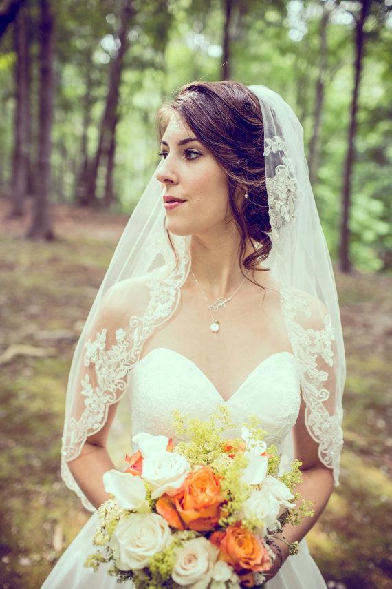 Свадьба - Lariat Pearl Necklace, Bridal Lariat Necklace, Bridesmaid Necklace, Bridesmaid Gifts, Wedding Jewelry, Bridal Party Gift, Wedding 2015