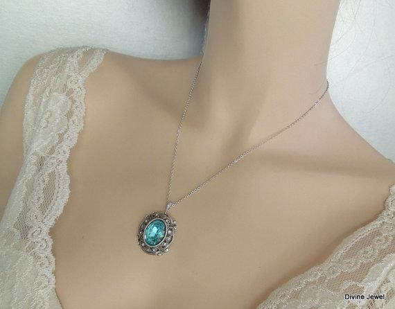 زفاف - Swarovski Crystal,Bridal Rhinestone Necklace,Silver Chain,Statement Bridal Necklace,Wedding Crystal Necklace,Bridal Jewelry,Bride,MARION