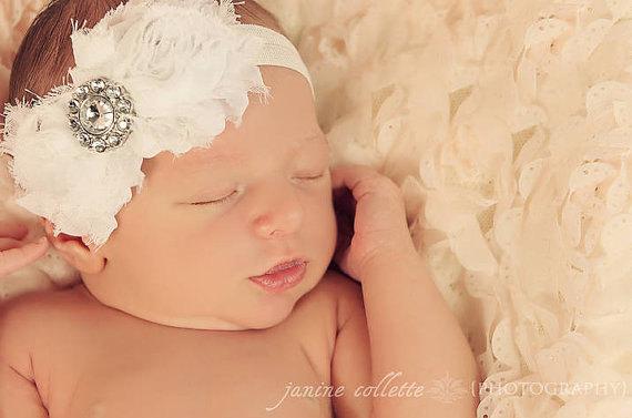 Свадьба - 30% off entire order...Rhinestone Headband, Couture Crystal Wedding Headpiece, baby headbands, newborn headbands,