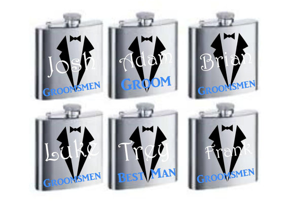 Hochzeit - Groomsman Flask, Personalized Groomsmen Gifts, Personalized Groomsman Gift, Custom Wedding Party Flask, Personalized Flask, Wedding Gifts
