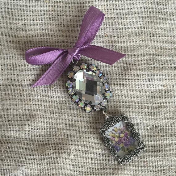 Wedding - Bouquet Charm - Petite Hearts