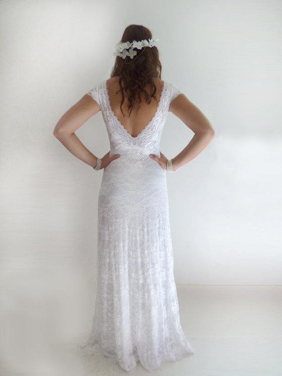 Wedding - Custom Made lace Wedding Dresses Wedding Gowns Lace Wedding Dresses Bridal Gown : ELSA Lace Sheath Gown Custom Size