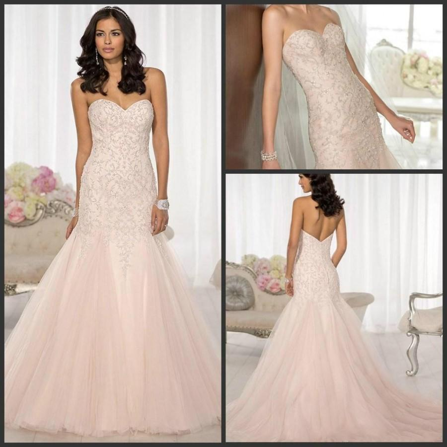 New Arrival 2015 Mermaid Sweetheart Wedding Dresses Tulle