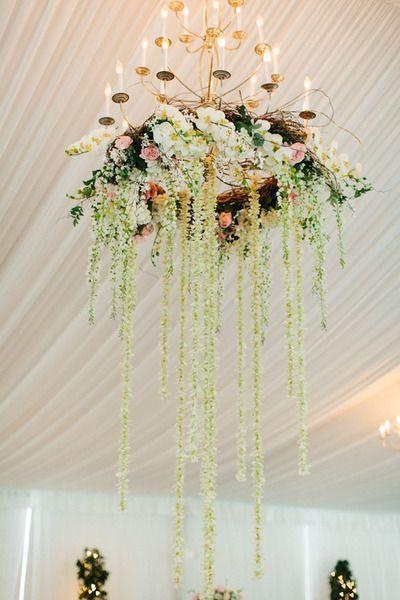 Свадьба - Floral Chandeliers