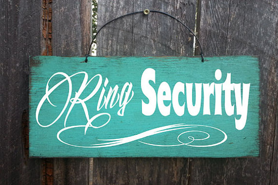 Hochzeit - Ring Security Sign, Wedding Sign, Wedding Decor, Ring Boy Sign, Ring Bearer Sign