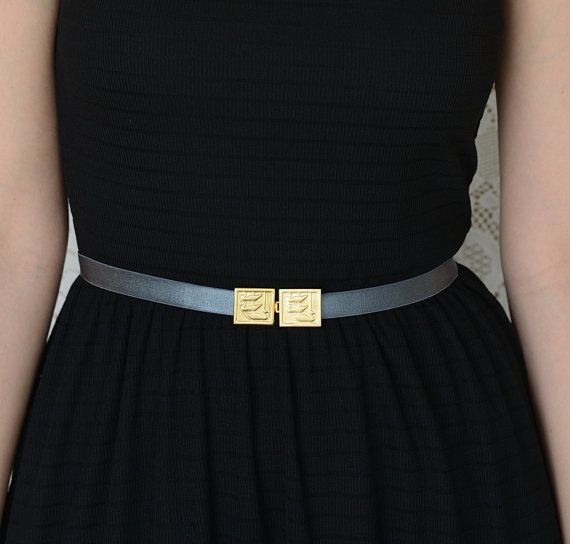 Mariage - Gray belt - Bridesmaids Belt - Wedding Sash - Bridesmaid Accessories - Gold Belt - skinny Belt - Stretch Belt - dress Belt - jeweled belt
