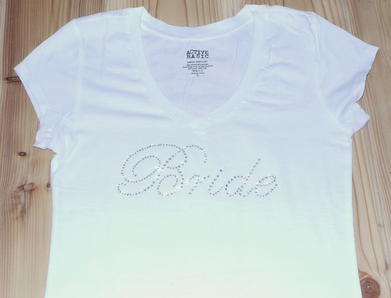 Honor Vs Honour Wedding Invitation: Bride T-Shirt Top. Shirts .Team Bride. Bachelorette Party