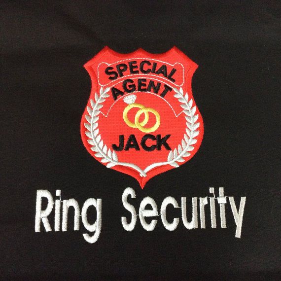 Hochzeit - Personalized Ring Security Polo Wedding Shirt  Embroidered - Ring Security - Ring Bearer Shirt - Add name for Free