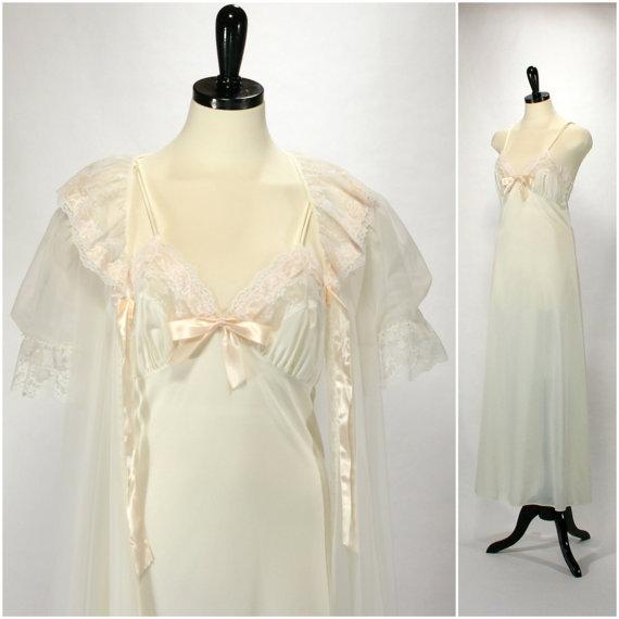 Bridal White Peignoir Set 51ba6f5ac