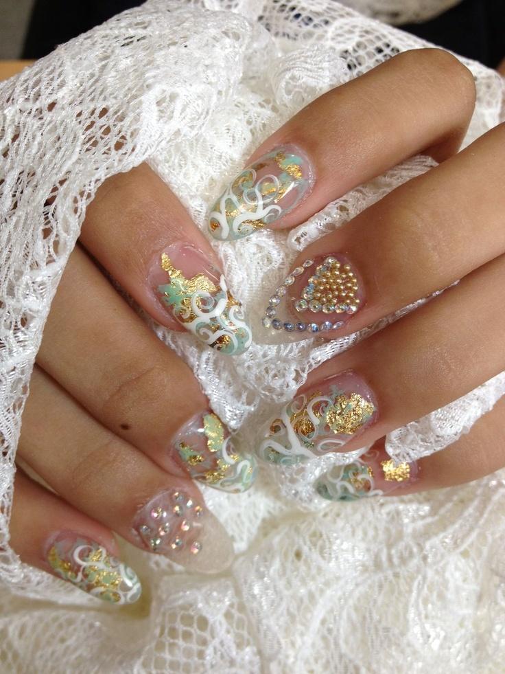 Свадебный маникюр свои руками