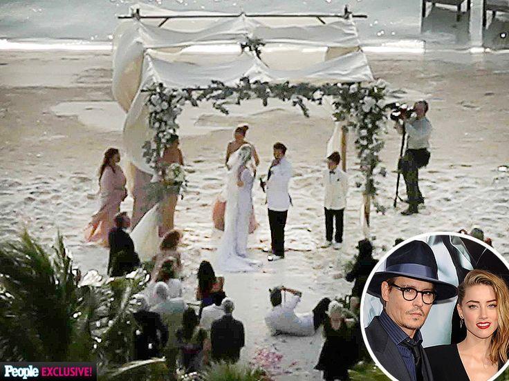 Hochzeit - PHOTOS: Inside Johnny Depp And Amber Heard's Private Island Wedding Ceremony