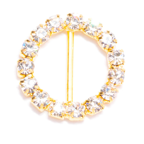 90pcs gold buckles wholesale rhinestone bling wedding for Wedding craft supplies