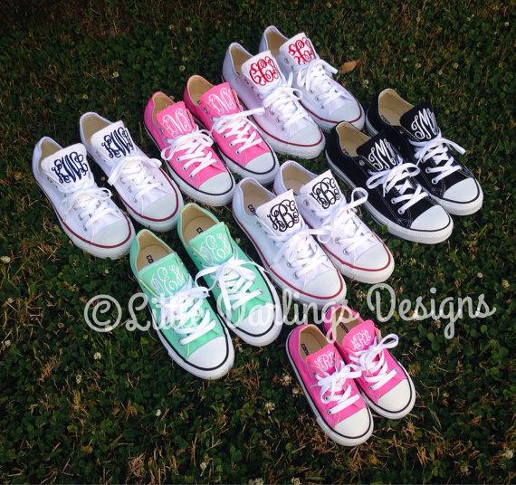 NEW COLORS! Trendy Monogrammed Converse All Star® Sneakers  2259691 ... 662da13b5