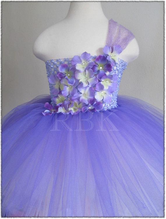 Wedding - Girls Flower Girl Dress, Purple and Lavender Tutu Dress, Purple Tutu Dress, Lavender Tutu Dress, Flower Girls Dress, Tutu Dress, Fancy Dress