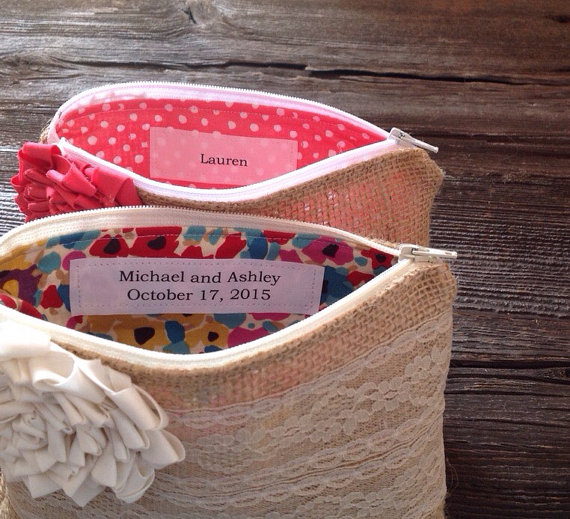 Wedding - Personalization Label Only - Personalized Clutch Tag - Bridesmaid Clutch Purse Label - Wedding Accessory -