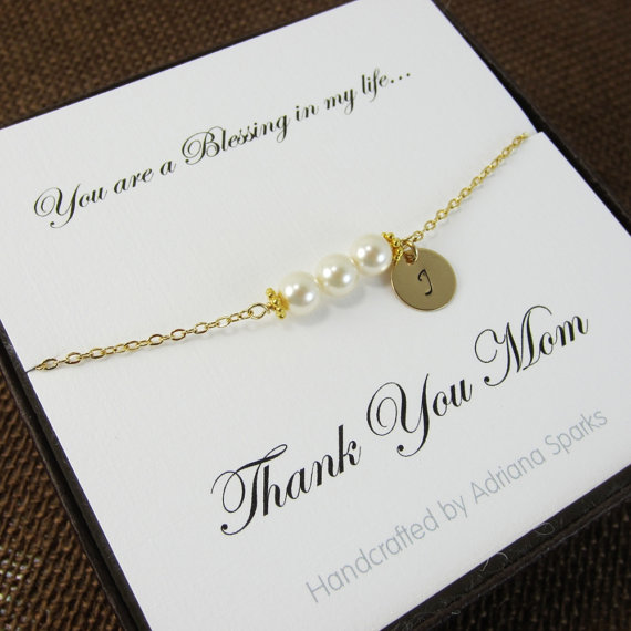 Mother Of The Bride Personalized Bracelet With Thank You Card ...