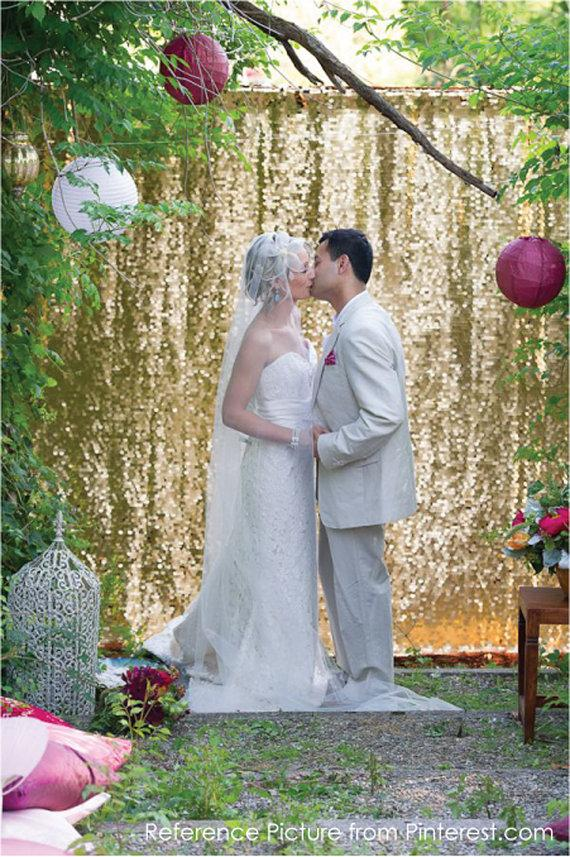 Wedding - Sequin Wedding Head Table Backdrop