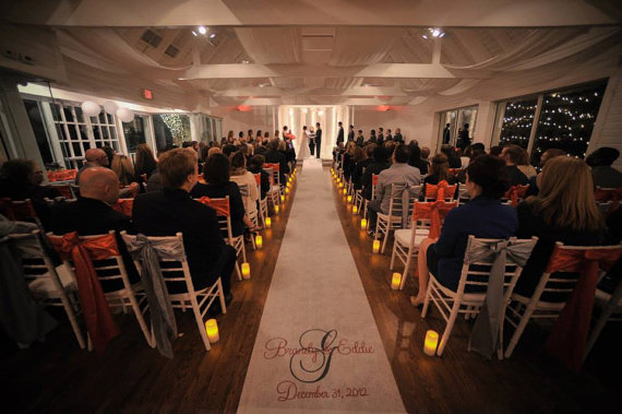 Wedding - Monogrammed Aisle Runner, STANDARD Monogram Design Package