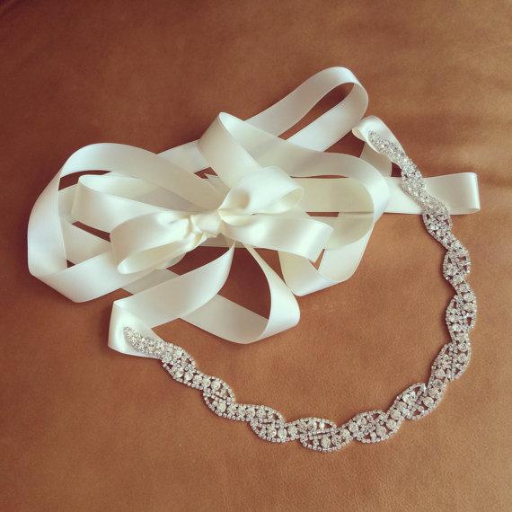 Mariage - Rhinestone Dress Sash - Prom Sash - Wedding Sash - MISSISSIPPI - BEST SELLER
