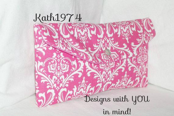 Свадьба - Pink Clutch - Bridesmaid Clutch - SALE - Envelope Clutch - Premier Prints-Madison Candy Pink - Bridesmaid gift- Birthday - Wedding Clutches
