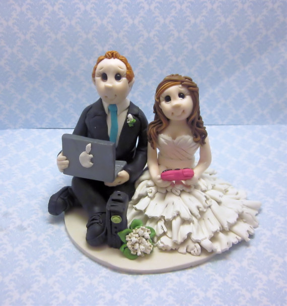 Wedding - Custom  Gamers Wedding Cake Topper